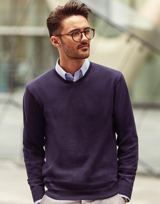 Russell Collection V-Ausschnitt Knit-Pullover