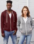 Bella Unisex Triblend Kapuzen-Sweatshirt mit Zip